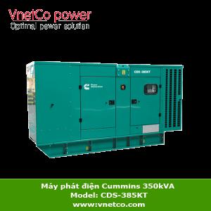 Máy phát điện Cummins 350kVA 3 pha CDS-385KT