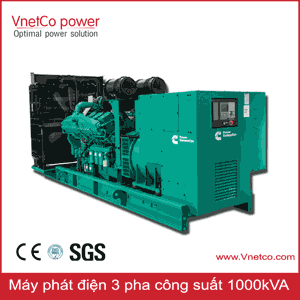 Máy phát điện 1000kVA 3 pha