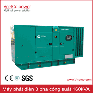 Máy phát điện 160kVA 3 pha
