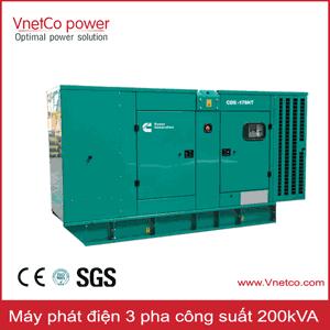 Máy phát điện 200kVA 3 pha