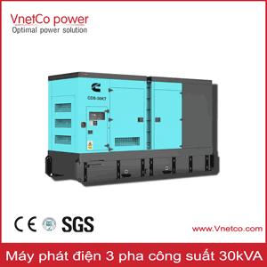 Máy phát điện 30kVA 3pha