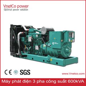 Máy phát điện 600kVA 3 pha