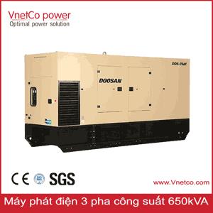 Máy phát điện 650kVA 3 pha các hãng