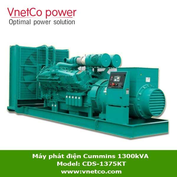 Máy phát điện Cummins 1300kVA CDS-1375KT