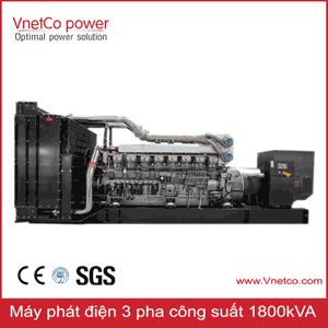 Máy phát điện 1800kva 3 pha chính hãng.