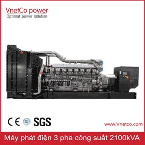 Máy phát điện 3 pha 2100kva, các hãng