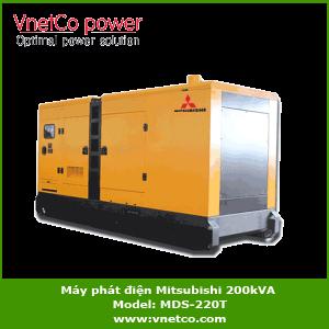Máy phát điện Mitsubishi 200kVA, MDS-220T