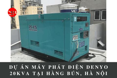 Dự Án Máy Phát Điện Denyo 20kVA Tại Hàng Bún, Hà Nội