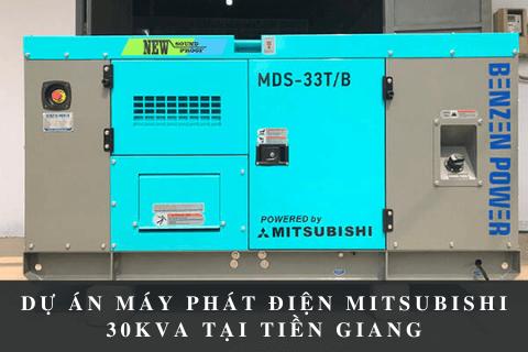 Dự Án Máy Phát Điện Mitsubishi 30kVA Tại Tiền Giang